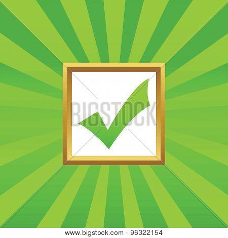 Tick mark picture icon