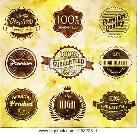 Set of retro vintage labels