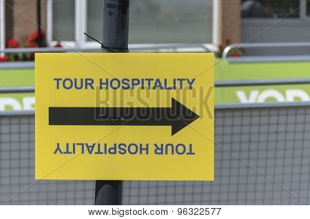 Hospitality sign