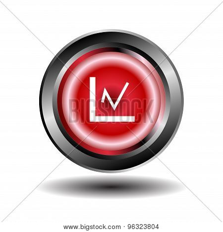 Graph icon. Graph char button isolated