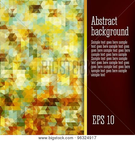 Abstract background with geometric elements, slightly look like classic or expressionists paintings.