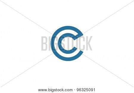 Letter C Logo vector design element template. ABC concept type as logotype. Typography icon line art alphabet