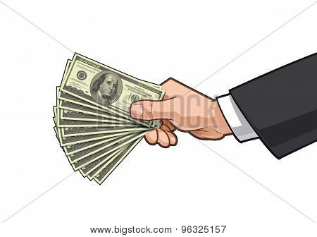 Hands Showing Money 3