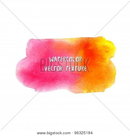 Summer watercolor texture. Watercolor abstract background. Stylish backdrop for placard or postcard