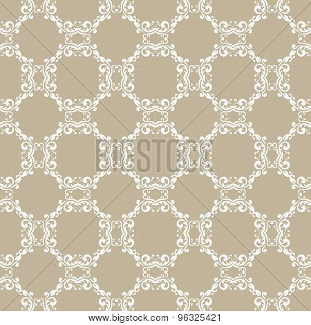 gray floral seamless pattern