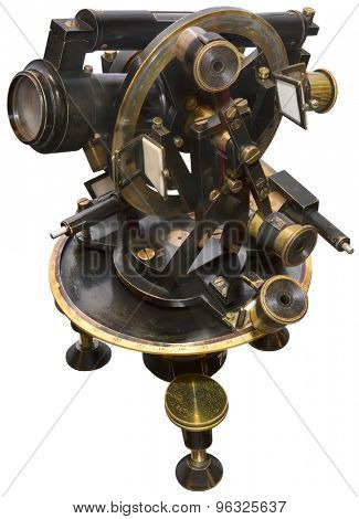Old Brass Theodolite Cut Out