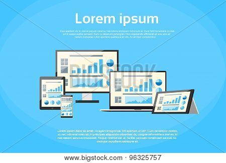 Responsive Design Financial Graph Page Laptop Phone
