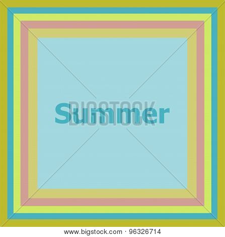 Word Summer On Abstract Background