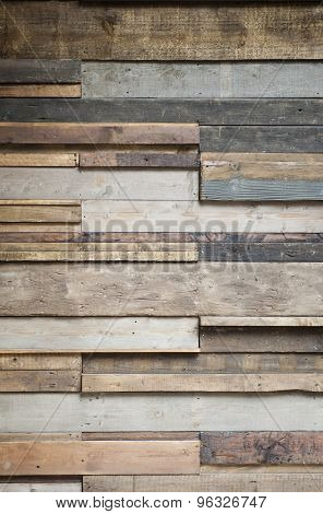 Textured Wooden Panels With Various Colours