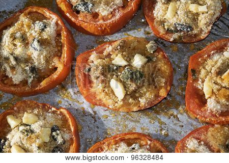 Stuffed Tomatoes With Crumb