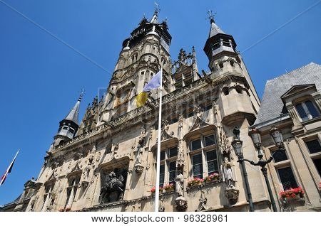 Picardie, The Picturesque City Hall Of  Compiegne In Oise
