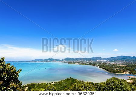 View Sea Sky And Tourist Town In Phuket, Thailand