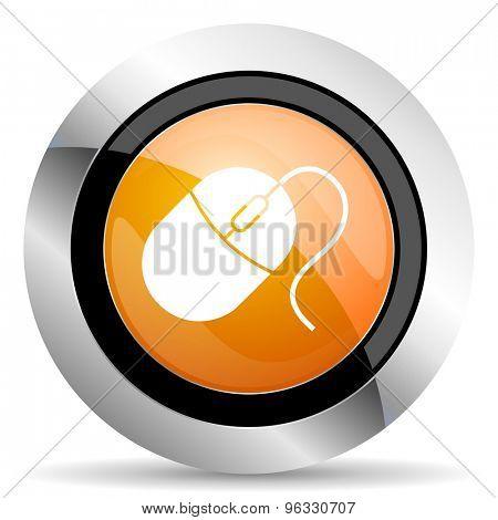 computer mouse orange icon