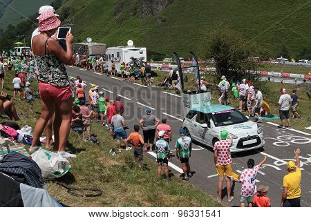 The Publicity Caravan of the Tour de France
