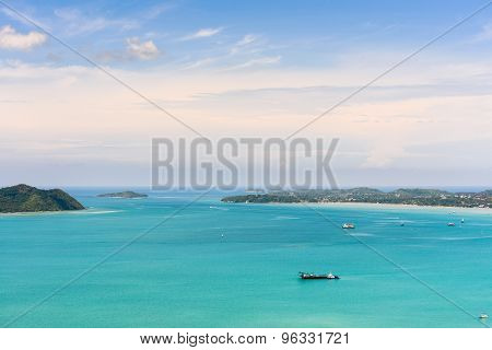 View Blue Sky Over The Andaman Sea In Phuket, Thailand