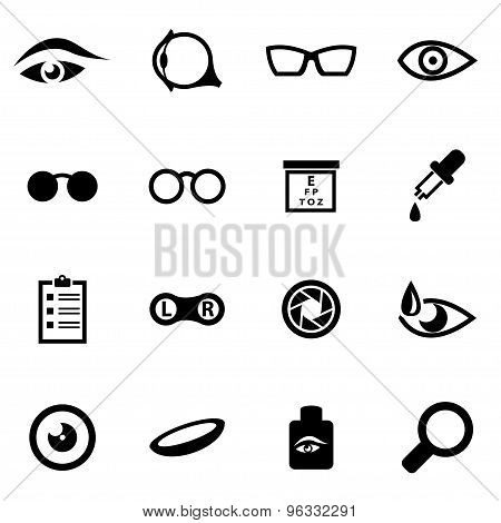 Vector Black Optometry Icon Set