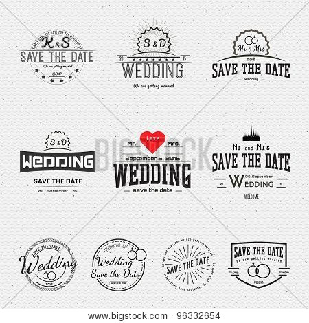 Wedding badges cards and labels for any use
