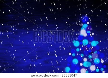 Blue Christmas Background