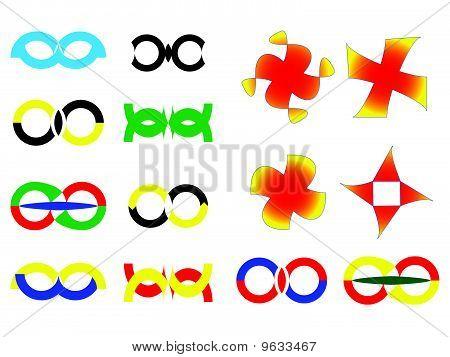 creative design icons against white
