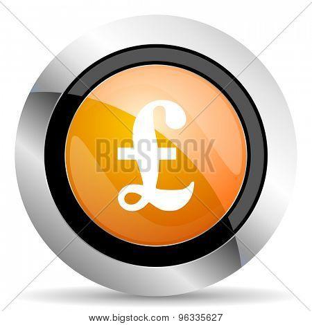 pound orange icon