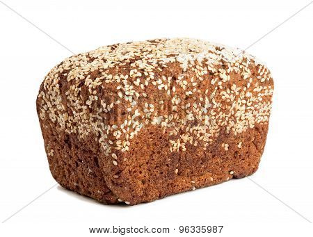 Fresh Whole Grain Bread Isolated Background