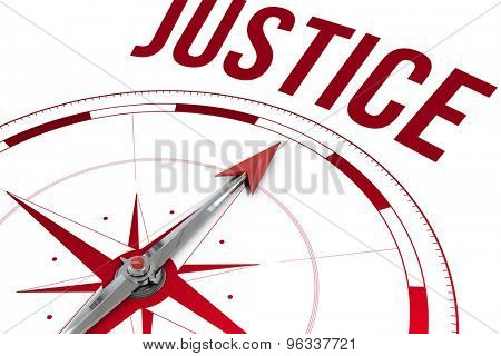 The word justice against compass