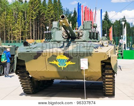 Airborne combat vehicle BMD-4M with reinforced armor