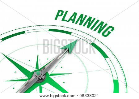 The word planning against compass