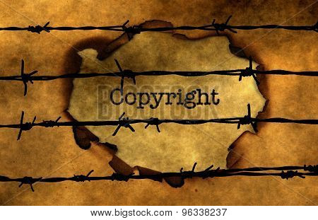 Copyright Concept Against Barbwire