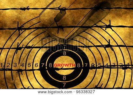 Growth Target Against Barbwire