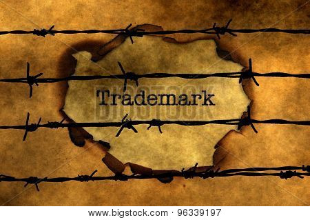 Trademark Concept Against Barbwire
