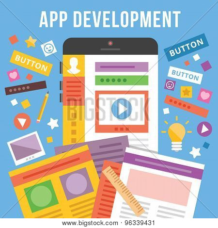 App development flat illustration concept