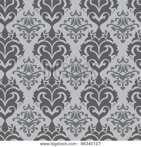 Arabic Style Vector Damask Pattern