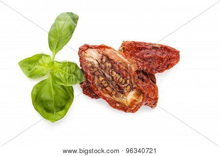 Dried Tomatoes, Top View.