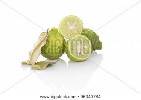 Bergamot Fruit Isolated.