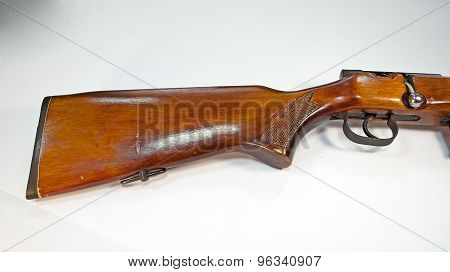 Vintage rifle in a cropped image
