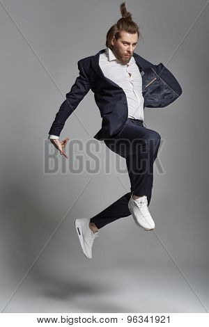 Fashion guy wearing suit