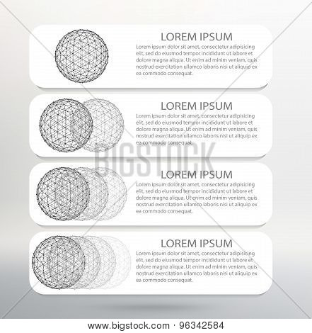 Vector Illustration. Infographic template list  Modern Design white background.  Infographic Banner