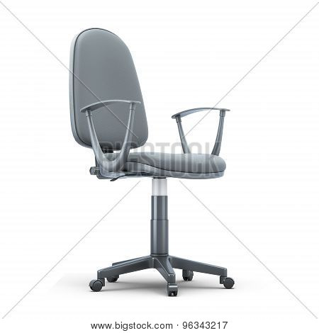 Grey Office Chair On A White