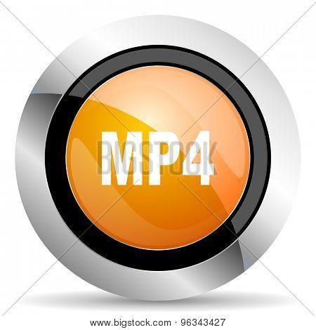 mp4 orange icon