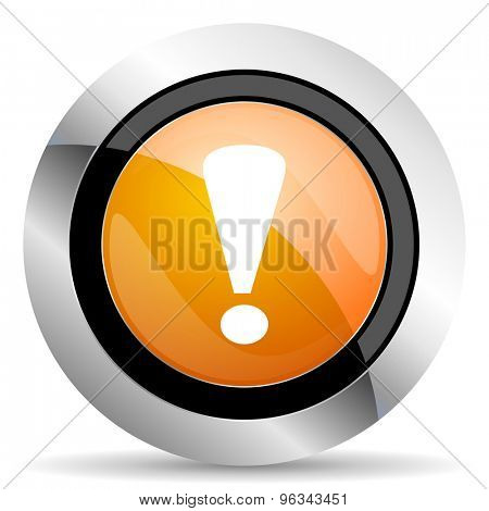 exclamation sign orange icon warning sign