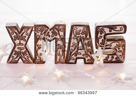 Xmas Wooden Letters
