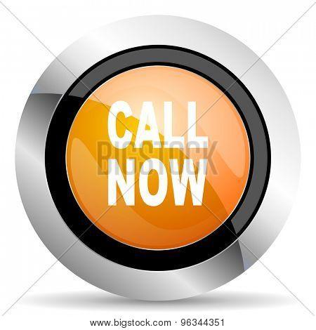 call now orange icon