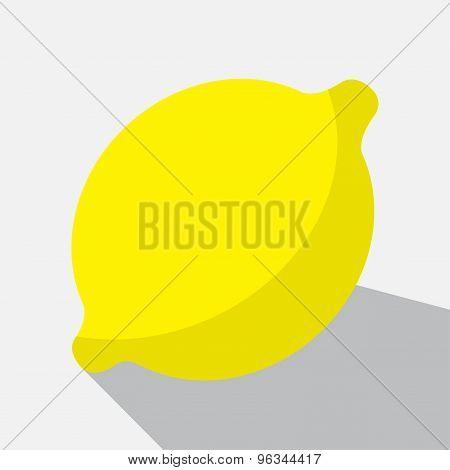 Yellow Lemon And Long Shadow