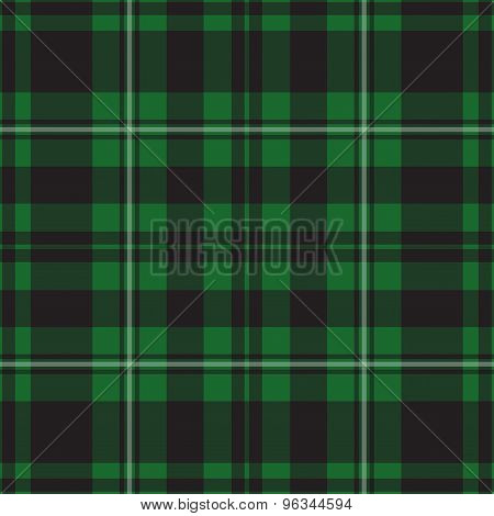 Seamless Illustration - Green Tartan