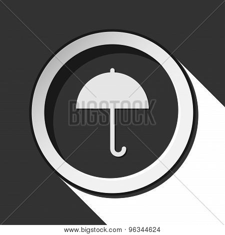 Black Icon - Umbrella With Shadow