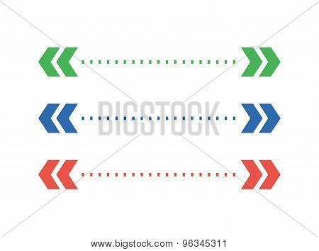 Abstract arrow element. Shape, Isolated, Vector and White. Stock illustration for design.