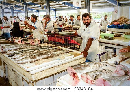 Dubai Fish Market In Deira, United Emirates