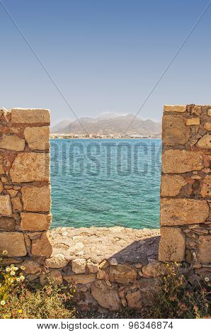 Veiw Of Lerapetra From Kales Fort Portrait Composition