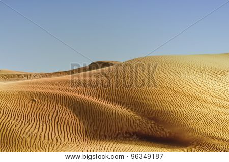 Abstract Patterns In The Dunes Of Arabian Desert